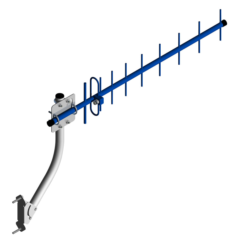 Antena externa para celular Triband 15 dBi ( 806 a 960 MHz ) RuralFone - CROMUS
